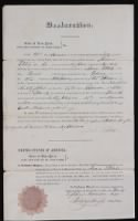 War of 1812 Pension Files record example