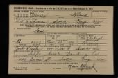 "WWII ""Old Man's Draft"" Registration Cards record example"