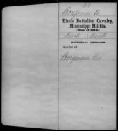War of 1812 Service Records - Mississippi record example