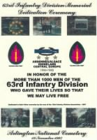 Unit History - 63rd Infantry Division record example