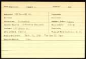 New York 174th Regiment Service Cards record example