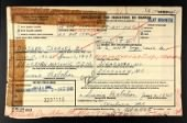 Headstone Applications, 1925-1963 record example