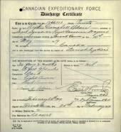 WWI Canadian Soldiers record example