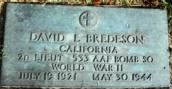 David Leroy Bredeson - 381st Bomber Group Heavy, 533rd Bomber Squadron