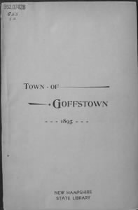 Town Records - Goffstown NH