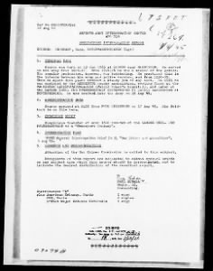 WWII Nuernberg Interrogation Records