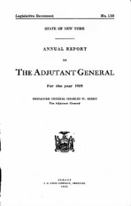 New York State Adjutant General Reports, 1846-1995