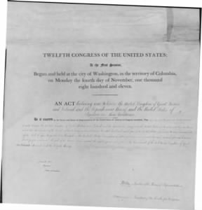 War of 1812 Milestone Documents
