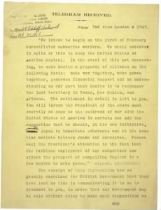 World War I Milestone Documents