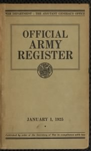Army Registers, 1798-1969
