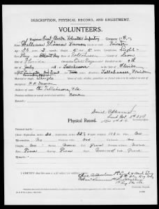 Spanish-American War Service Records - Florida