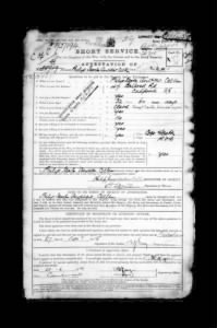 British Army WWI Service Records