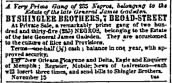 Another Weeping Time: Sale of 235 Slaves of Gen. James Gadsden, SC, 1860