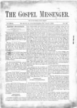 Gospel Messenger, Vol. 21, No. 26, July 3, 1883