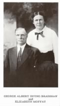 A Brief History of George Albert Irving Bradshaw and Elizabeth Moffat