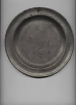 1743 Communion Plate used in Hollis, NH