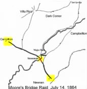 Federal activity in Carrollton and Villa Rica: the Moore's Bridge raid