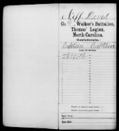 Captain David Neff's CSA Record for NC and Tennessee
