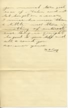 Letter to Ethel from W. A Perry June 25, 1898