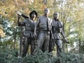 The Three Soldiers at The Vietnam Wall