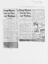 Project Blue Books: Flying Whatzit!