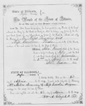 Dunning, Miles Dixon, Caroline 2 April 1856 Marriage Pope County, Illinois