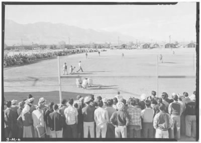 Baseball in the Manzanar Interment Camp - 1943