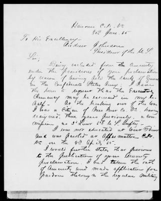 William Henry Fitzhugh Lee's Request for Amensty