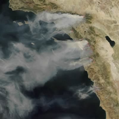 Fires in Southern California (23 Oct 2007)