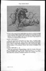 Fold3 Image - First page of Medal of Honor citations for the Spanish-American War