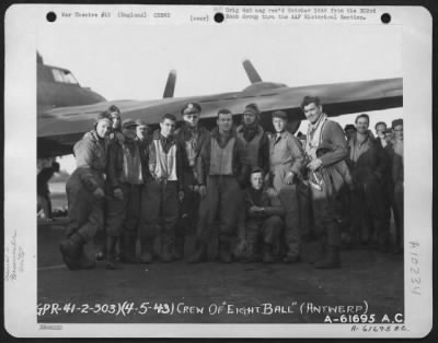 Clark Gable with the Crew of the '8 Ball'
