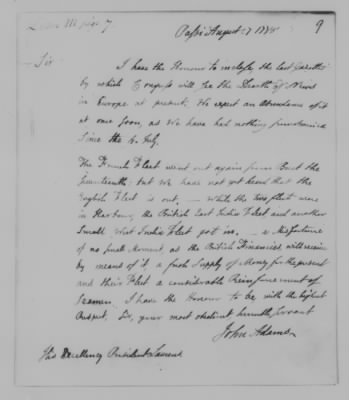 Letter written by John Adams