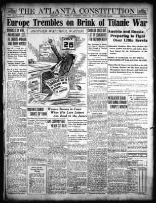 July 1914 - Europe Trembles on Brink of Titanic War