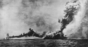 Fold3 Image - Explosion of the Queen Mary at the Battle of Jutland