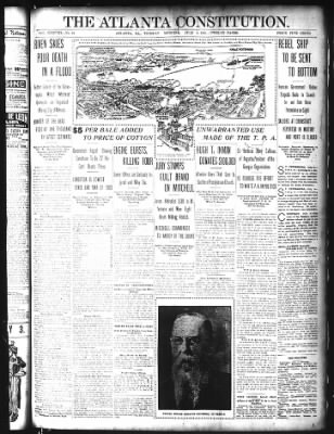 Battleship Potempkin Illustrated - Atlanta Constitution 4 July 1905