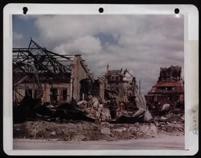 Bombing in Nuremburg Germany - COLOR wwii picture