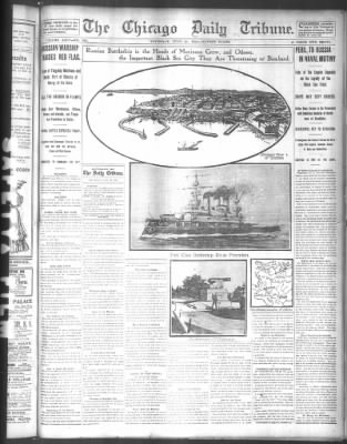 Battleship Potempkin Illustrated - Chicago Tribune 29 June 1905