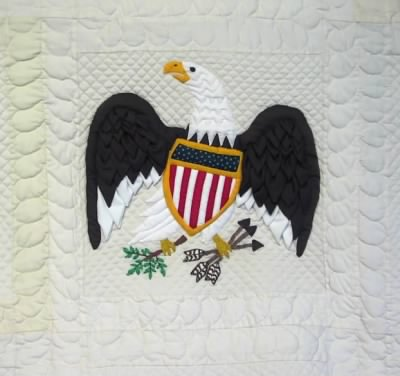 American Eagle Quilt Block Made by Sharon Greathouse of Richwood, WV