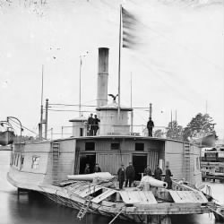 Ferry boat altered to a gunboat