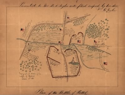Topographical sketch of the Battle of Bethel, June 10th, 1861.