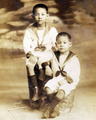 The two oldest sons of Bartolome Seda Fernandez and Pilar Maronilla Calleja in the 1920s (approx).  Ramon (left) became an associate justice of the Philippine Supreme Court and Manuel (right) became on of the founders of the Makati Medical Center.