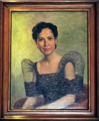 Fernando Amorsolo was commissioned this portrait of Alicia Calleja Castro in the 1950s.  The painting now hangs in the Castro's home in Alabang.