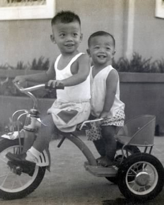 Gerald Alfonse and Terence Alberto Chua in 1958.
