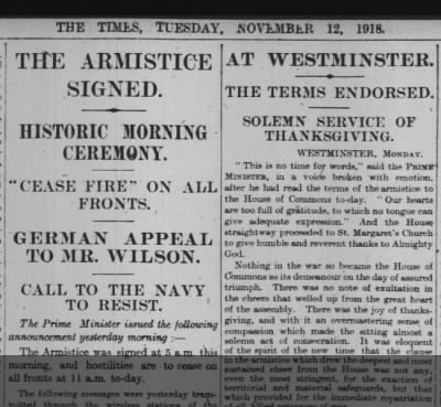 The Armistice Signed