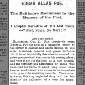 A Graphic  (and overly dramatic) Narrative of Edgar Allen Poe's Last Hours