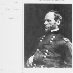 Gen. William T. Sherman (scanned card)