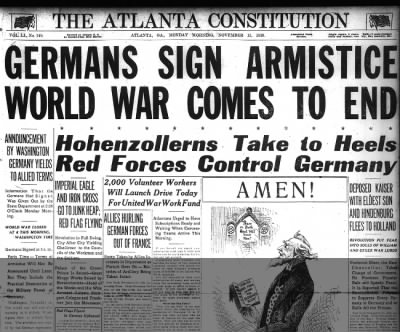 Germans Sign Armistice World War Comes to End