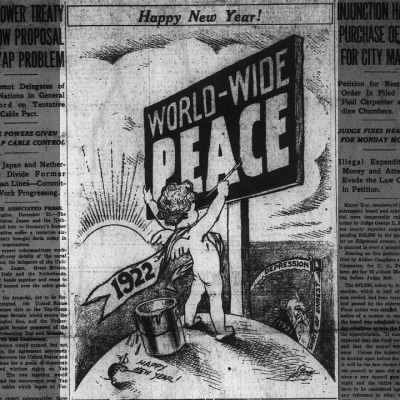 A Happy New Year 1922 - The Atlanta Constitution